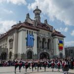 Dansurile grecești au animat atmosfera în Piața Ovidiu